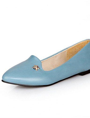 Oficina Azul under Casual under 1in yellow de Trabajo mujer Plano Zapatos ZQ y Bailarina Mocasines Rojo Tacón Semicuero Amarillo Negro blue 1in Oq0xH