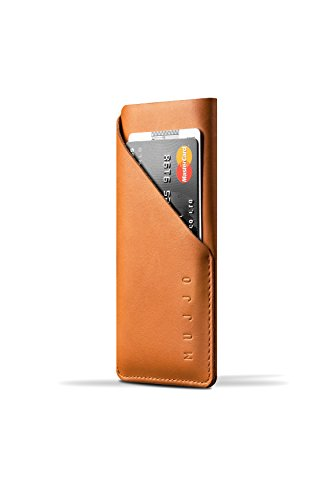 Mujjo Leder Wallet Sleeve für Apple iPhone 6 11,93 cm (4,7 Zoll) tan