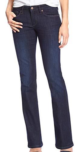 Banana Republic Womens 215657 Mid Rise Slim Boot Leg Jeans Dark Wash (26W Regular US: 2)