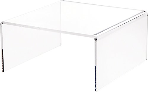 Plymor Clear Acrylic Short Square Display Riser, 4.5 H x 9 W x 9 D 1 4 Thick