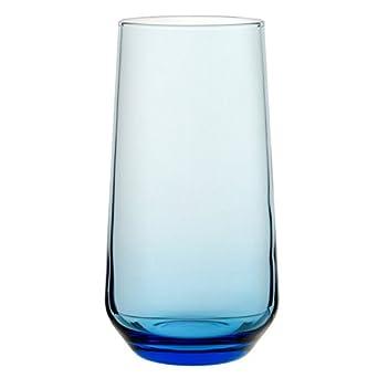Utopía p420015-blue0-b06024Allegra vasos altos, 16,5oz (46.75cl), azul (Pack de 24)