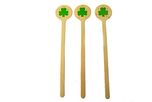 Perfect Stix St Patricks Stirrers-36ct Wooden Drink Stirrers with St Patricks Day Print (Pack of 36)
