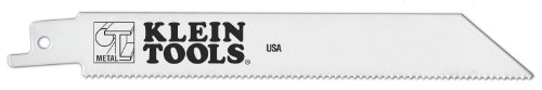 Klein Tools 31710-15 6-Inch, 6 TPI, Bi-Metal Reciprocating Saw Blade for Wood with Nails, 15-Pack