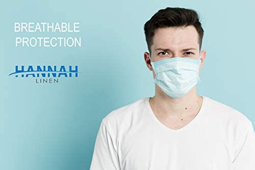 Disposable Face Masks/Safety Masks - 50PCS - Blue - 3 Layers Protective Face Masks For Adults and Teens, Breathable Masks for Germ Protection, Anti-Dust Mask with Earloop for Personal Care