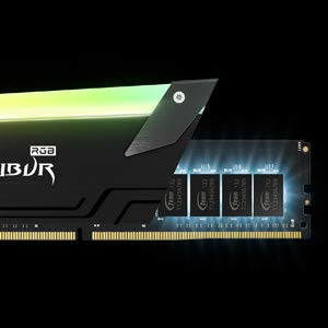 TEAMGROUP T-Force Xcalibur RGB DDR4 16GB (2x8GB) 3600MHz (PC4-28800) CL18 Desktop Memory Module ram TF5D416G3600HC18EDC01 - General Edition
