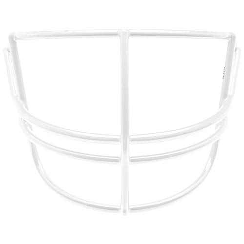 Schutt Sports Super Pro Carbon Steel Varsity NOPO Football Faceguard, White - Guards Face Steel