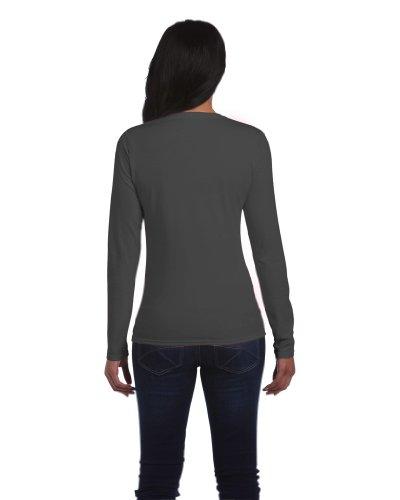Langarm T-Shirt , Farbe:Charcoal;Größe:S