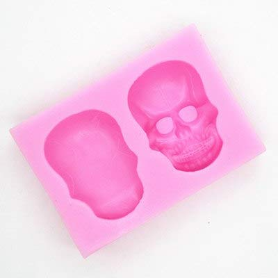 (1 piece Halloween series skull silicone mold chocolate mould Skeleton Cake decoration)