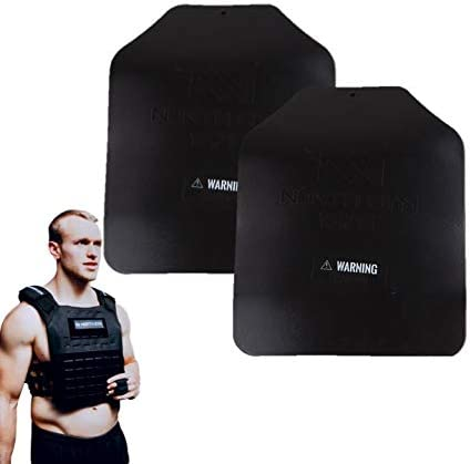 North Gym 3D Weight Plates – Additional Weight for Weight Vests and Plate Carriers, 5.75lbs 8.75lbs 13.75lbs Pairs, Ergonomic Shape, Optimized Weight Distribution, Powder-Coated