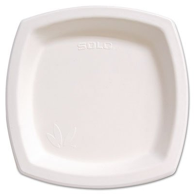 Solo Cup Company 8PSC2050PK Bare Eco-Forward Dinnerware, 8.25 in. Plate, Ivory, 125-Pack