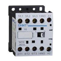 Chint NC6-0910-24V Mini Contactor, 3 NO Main + 1 NO Aux, 24V, 9 A, AC3 Chint Europe (UK) Ltd