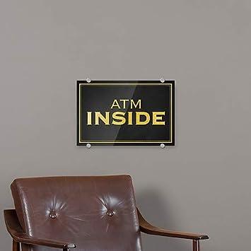 CGSignLab Classic Gold Premium Acrylic Sign ATM Inside 5-Pack 18x12