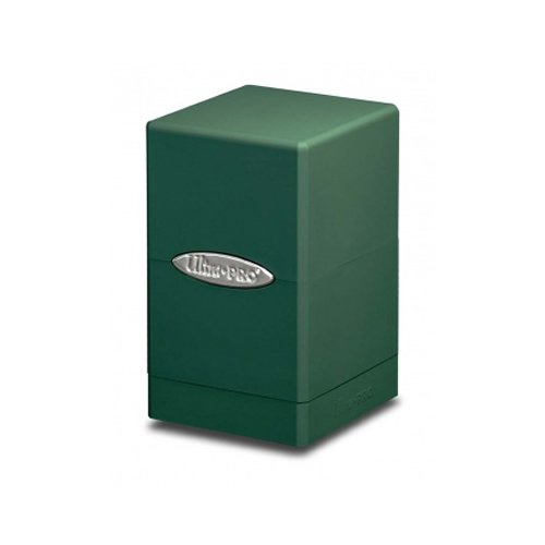 Ultra Pro Green Satin Tower Deck Boxes (Ultra Pro Mtg Pro Tower Deck Box)