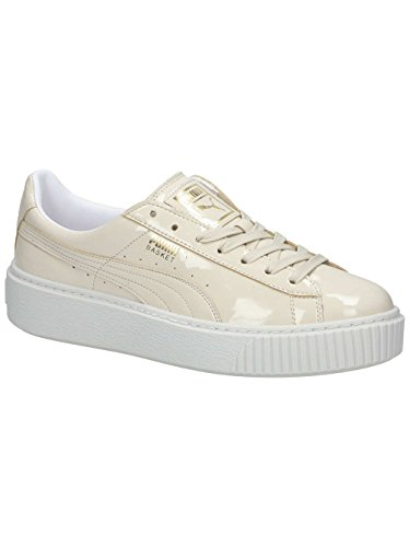 Puma Women's Basket Platform Patent WN's Trainers, Blue Off-white (Oatmeal-oatmeal 2)