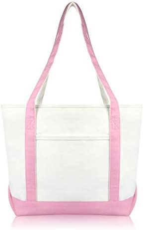 a12d1b03d7db DALIX Daily Shoulder Tote Bag Premium Cotton in Pink