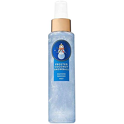 (Bath & Body Works Frosted Coconut Snowball Diamond Shimmer Mist, 4.9 Ounce)