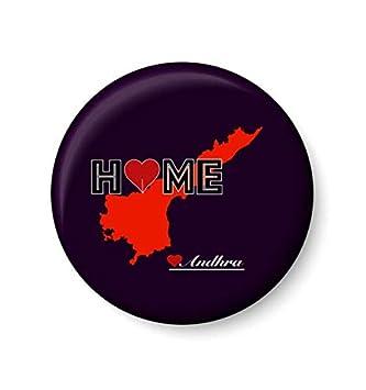 c983c79b44 Buy PEACOCKRIDE Andhra Pradesh Home Love Metal Fridge Magnet (75 mm,  Multicolour) Online at Low Prices in India - Amazon.in