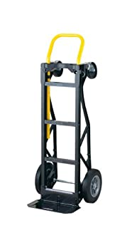 "Harper Trucks 700 lb Capacity Glass Filled Nylon Convertible Hand Truck and Dolly with 10"" Flat-Free Solid Rubber Wheels (B00D7HC024) 