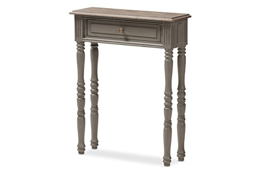 Baxton Studio 146-424-8183-AMZ Talence Console Table, Brown French Provincial Drawer Pulls