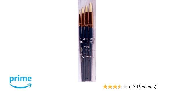 Duncan Ceramics 4 Piece White Bristle Round Brush Set BB105