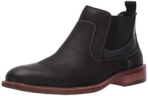 Steve Madden Men's KEMPTIN Boot, Black Leather, 10 M US