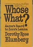 Whose What?, Dorothy Rose Blumberg, 0030685257