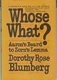 Whose What?, Dorothy Rose Blumberg, 0030685257
