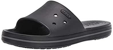 Crocs Unisex Adults Crocband III Slide, Black/Graphite, M4W6