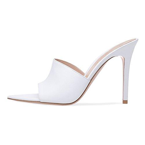 KJJDE Fête Sexy De Soirée White 43 Transgenre Talon TLJ Taille Club Sandales Grande 912 Plateforme Mat Femme Cuir De Mode Haut Mariage 4a4Ernwq