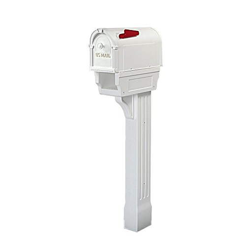 Postal Pro Hampton All-in-One Mailboxes Kit in White