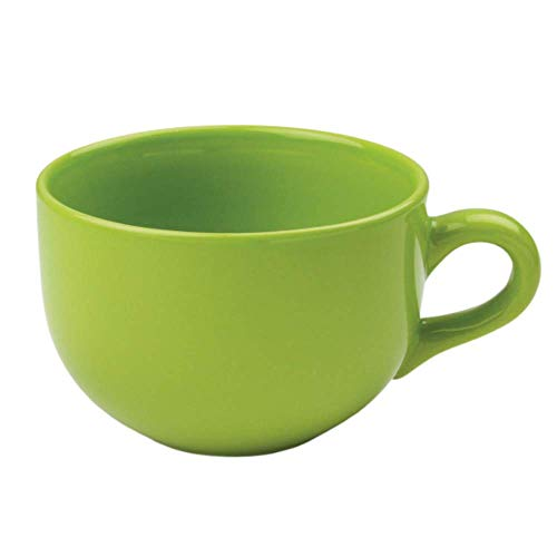 24 ounce Extra Large Latte Coffee Mug Cup or Soup Bowl with Handle - Green Citron