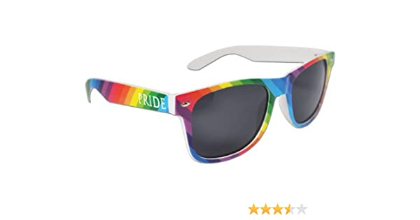 fc485089ac Amazon.com  Colorful Gay Pride Rainbow Drifter Style Sunglasses Unisex   Sports   Outdoors