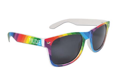 Colorful Gay Pride Rainbow Drifter Style Sunglasses - Gay Sunglasses