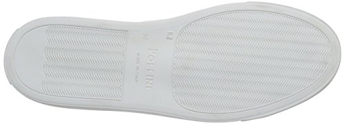 Pollini Scarpad.gomma20 Vdis+na+st.co.optic - Mocasines Mujer Blanco - Weiß (White 10A)