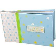 "Baby Photo Album 4 x 6 Grandmas Brag Book ""Grandma's Lil' Star"" - Boy / Girl Baby Shower Gifts, - Holds 24 Precious Photos, Acid-free Pages"