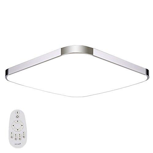 SAILUN 64W LED Deckenleuchte Dick Modern Deckenlampe Flur Wohnzimmer Lampe Schlafzimmer Kche Energie Sparen Licht Wandleuchte Farbe Silber Dimmbar