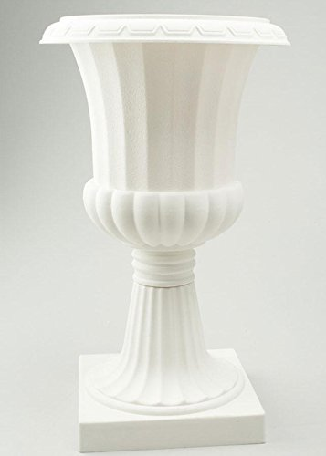 Portofino International Trading USA, Inc. (POR-) Plastic Urn Planter in White - 23