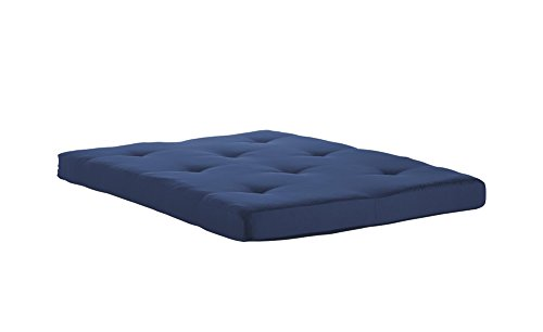 Price comparison product image DHP Value 6 Inch Polyester Futon Mattress; Soft, Modern & Comfortable; Full Size, Indigo Blue
