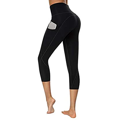 TUNGLUNG High Waist Yoga Pants, Yoga Pants with Pockets Tummy Control Workout Pants 4 Way Stretch Pocket Leggings 31fbYoeupkL