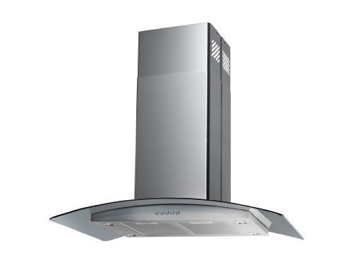 "Blue Ocean 36"" RH668I Stainless Steel Island Mount Kitchen Range Hood"