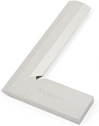 Holzbearbeitung 80mm x 50mm L förmige bgeschrägt Kante Anschlagwinkel Lineal Silber de