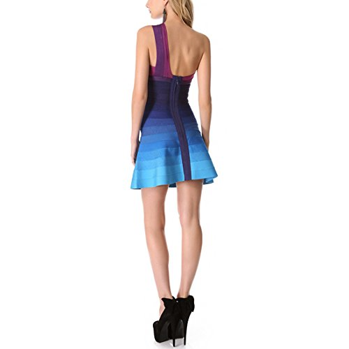 Damen Orange Blau Orange HLBCBG Orange Kleid xgIq4Z