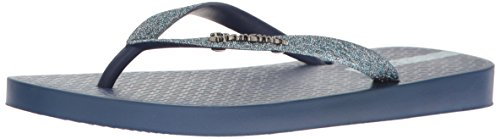 Ipanema Women's Glitter II Flip Flop, Blue/Blue, 10 M (Ipanema Sandals Sale)