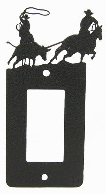 Innovative Fabricators, Inc. Team Roping GFI Rocker Light Switch Plate Cover