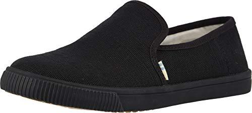 TOMS Women's Clemente Burlap Slip-On Black/Black Heritage Canvas - Shoes Womens Loafers Dress