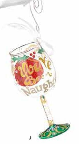 LOLITA 6000225 Mini Wine Naughty X-Mas Wall Hanging (Lolita Glass Ornament Wine)