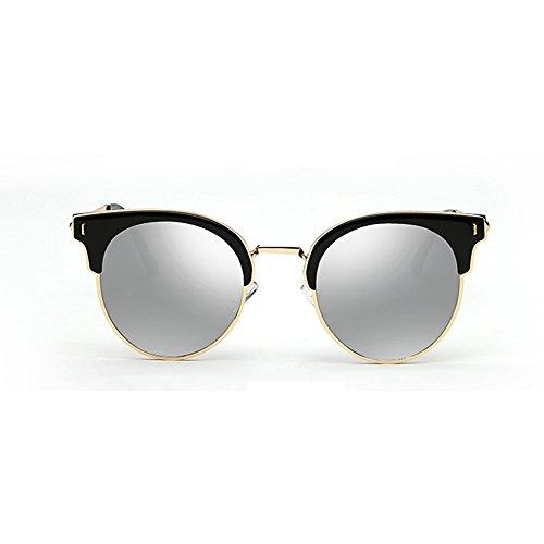 Sol Mujer Color de B polarizadas Retro Gafas Gafas Color Sol Sol de A de de JIU Ojos Opcional Metal Gafas Gafas Redondo Piernas Proteja Sus FzwqfYBw7