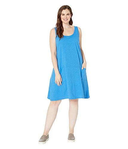 Extra Fresh by Fresh Produce Women's Plus Size Drape Dress Atlantic Blue 1X