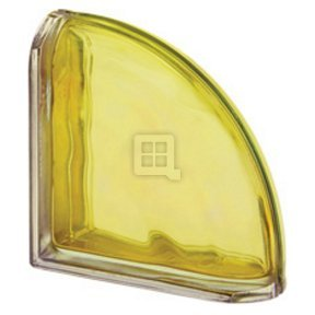 Quality Glass Block 7.5 x 7.5 x 3 Pegasus Metalized Cedro Wave Double End Block Glass Block