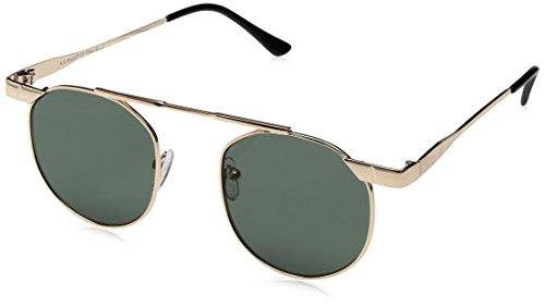 A.J. Morgan Techie Square Sunglasses, Gold, 50 - By Morgan Sunglasses Aj